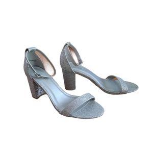 Dream Pairs Womens Silver Glitter Heels Size 7
